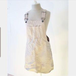 Tan Overall Dress